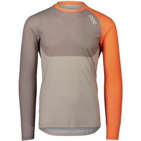 POC MTB Pure LS Jersey Men, zink orange/moonstone grey/light sandstone beige